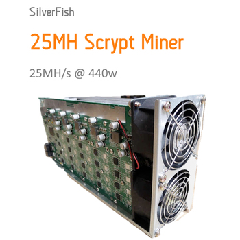 [SOLD OUT] Scrypt Miner 25MH Asic Miner Sliver Fish 25MH Litecoin Miner for Scrypt Mining Substitution of A2 Terminator