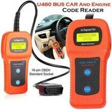 цена на Car Diagnostic Instrument U480 OBDII /EOBD Car or Truck AUTO Diagnostic Engine Scanner BUS Code Reader Engine Scanner
