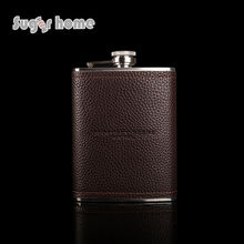 Mealivos brown 8 oz stainless steel hip flask whiskey Flask for Alcohol Bottle vodka Whiskey bottle groomsmen gifts