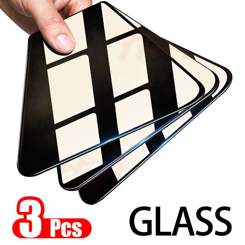 3Pcs Protective Glass For Samsung Galaxy A20 A30 A50 A40 A90 A70 A60 A10 Screen Protector 9H 2.5D Tempered Glass M10 M20 M30