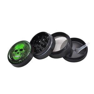 Image 4 - HORNET azúcar cráneo serie de aluminio hierba molinillo 50MM 4 piezas molinillo de tabaco metálico molinillo triturador humo Accesorios