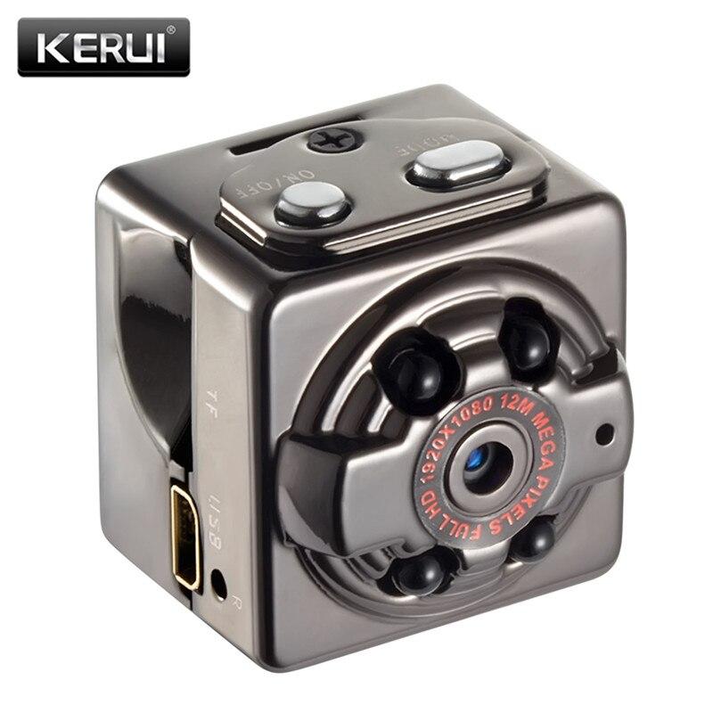 KERUI 1080 p Mini cámara infrarroja IR de visión nocturna DVR Mini DV Cam grabación voz Mini videocámaras SQ8 mini cámara