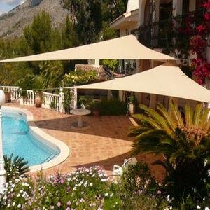 Image 5 - Imperméable abri soleil Triangle parasol Protection extérieur auvent jardin Patio piscine ombre voile auvent Camping ombre tissu grand