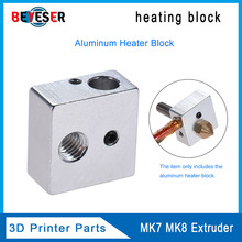 3D printer Accessories heating block Makerbot MK7 MK8 dedicated print head heated Aluminum Extruder