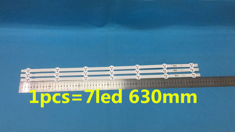 3pcs/set  630mm LED Backlight Lamps Strips 7leds For LG B1 B2-Type V13 6916L-1437A 6916L-1438A 32 Inch TV
