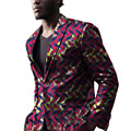 Mens African blazers bright colored print custom made suit coats for wedding/party unique design dashiki clothing