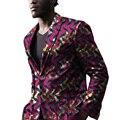 Mens Africano impresión por encargo suit abrigos blazers de color brillante para la boda/el partido diseño único ropa dashiki
