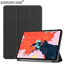 "12.9"" for Apple iPad Pro 12.9 2018 Tablet Case PU Leather Cases Solid Smart Sleep Protective Shell fold Kickstand PC Back Cover"