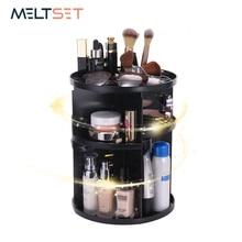 Купить с кэшбэком 360-Degree Rotating Makeup Organizer Cosmetic Sotrage Box Jewelry Brush Lipsticks Holder Case Women Destktop Dresser Organizer