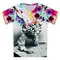 2016 лето новинка мыслитель печать абстрактный футболка мужская мальчик в девочке свободного покроя 3d майка для детей harajuku футболку