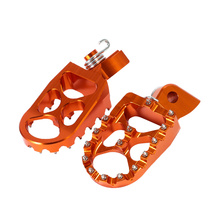 Motorcycle Footrests CNC Aluminum Rear Wide Foot Pegs Pedals Rests MX For KTM 250sx EXC 300 400 450 SX-F SMR 540 SX50 65 85 D49