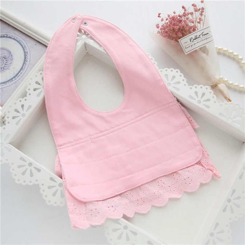 Нагрудники для девочек, хлопковый слюнявчик для младенцев, муслиновый слюнявчик-платок, нагрудник, шарф для малышей, зимний ворсистый материал для кормления новорожденных