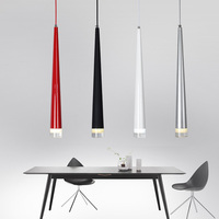 Modern   Pendant     Lights   3W LED Cone-shape Hanging Lamps for Restaurant/Living Room/Bar Lamparas Home Decoration Lighting Luminaire