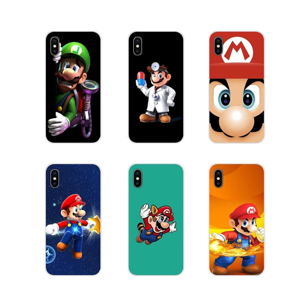 TPU transparente Shell cubre super mario bros Flexible para Apple iPhone X XR XS MAX 4 4S 5 5S 5C iPhone 6 6 S 7 7 Plus ipod touch 5 6