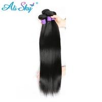 Malaysian Virgin Hair Straight 1pc Lot 100g Pc 6a Malaysian Human Hair Weave Natural Black Straight