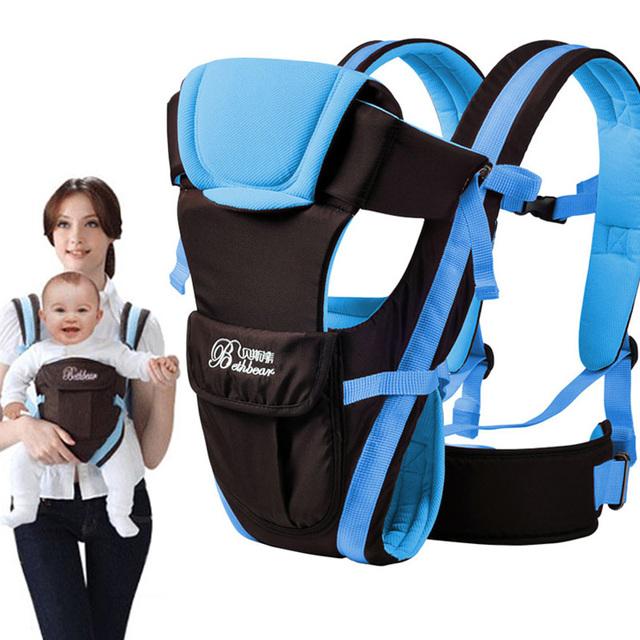 2 - 30 meses respirável multifuncional frente virada Baby Carrier infantil confortável Sling Backpack assento do bebê estações disponíveis