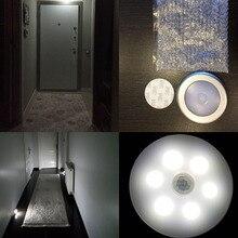 4pcs PIR Motion Sensor LED Light Under Cabinet Light AAA Battery Power Kitchen Lamp Home Decor Lighting for Kid Bedside Corridor