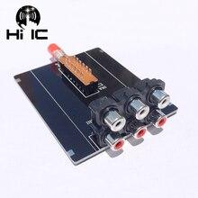 Conmutador de señal de Audio, 2 entradas, 1 salida, divisor, Caja selectora, Audio, vídeo, RCA, AV