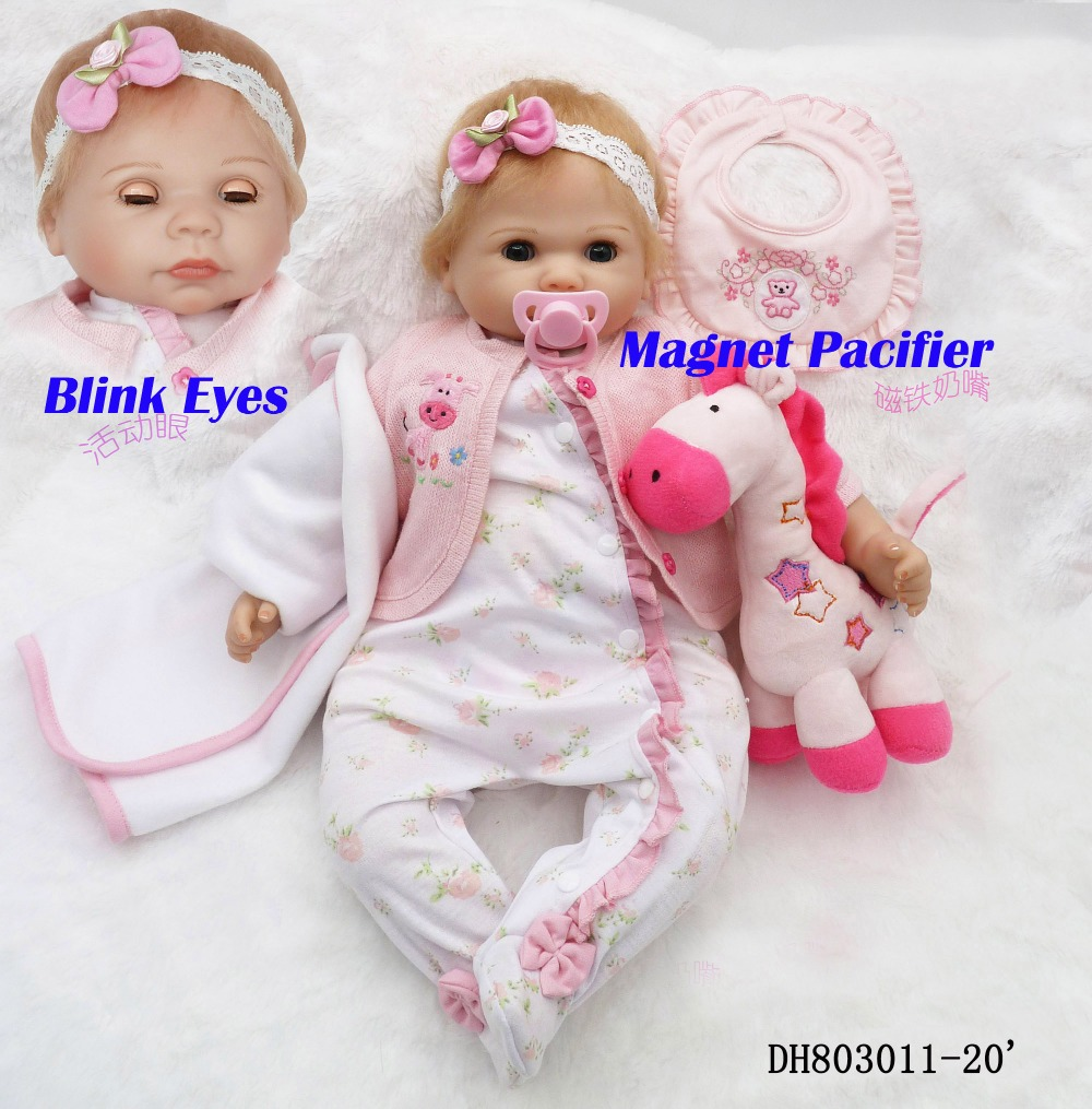 Bebes reborn blinking eyes girl dolls 20 soft silicone vinyl reborn baby alive dolls for child gift brinquedo menina munecasBebes reborn blinking eyes girl dolls 20 soft silicone vinyl reborn baby alive dolls for child gift brinquedo menina munecas
