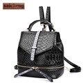 Marca mini jacaré couro mochila mulheres mochilas da moda para adolescentes de alta qualidade lady back pack crocodilo saco um dos