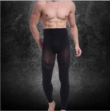 2014 dos homens sexy corpo Shaper pants emagrecimento bodysuit translúcido solto peso Frete Grátis