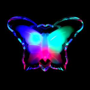 Image 2 - Veilleuse papillon, jolie couleur rvb, ampoule décorative pour chambre de bébé, prise ue, modèle LED
