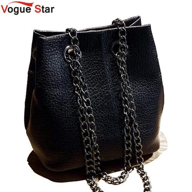 Vogue star 2017 resorte y verano forman la cadena de cangilones bolso de hombro bolsa de mensajero mini bolso de crossbody bolsos para mujeres la12