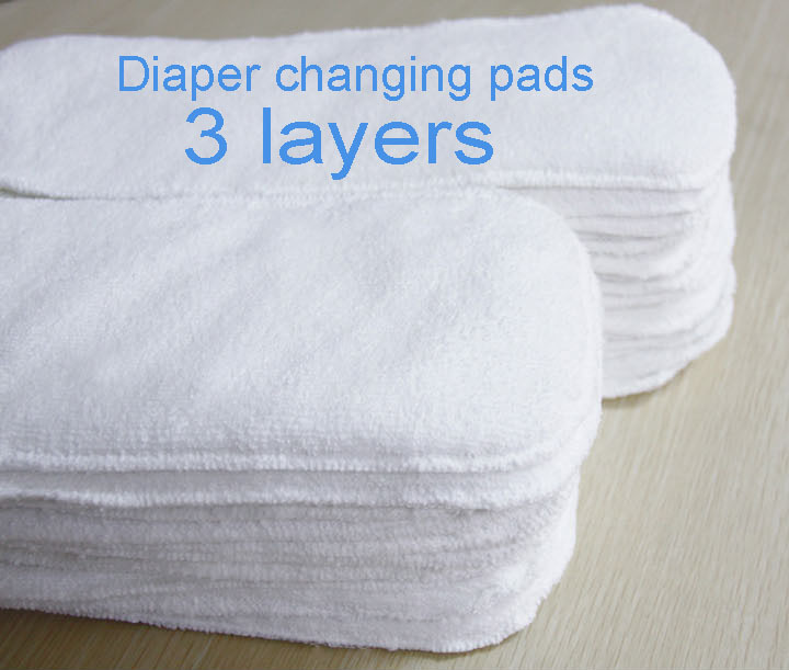 Washable Baby Diapers Insert 3 Layers Reusable Baby Cloth Diaper Inserts Super Absorbent Newborn Changing Microfibre Nappy Liner
