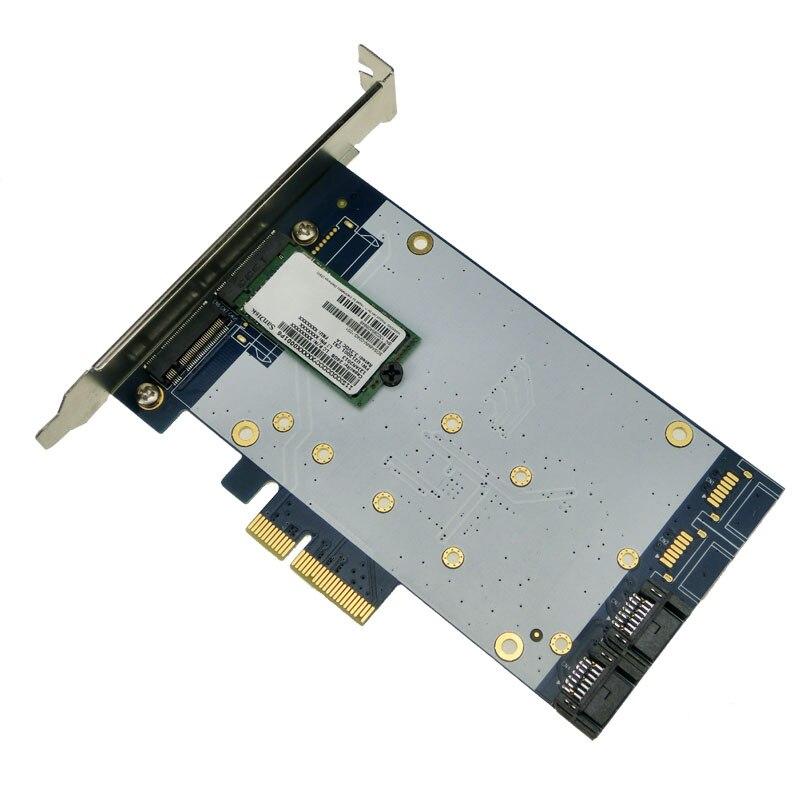 Free shipping x4 PCIe to SATA 3.0 + B key NGFF(m.2) RAID Card HyperDuo SATA port multiplier 88SE9230 SATA3.0 dual msata raid to 22pin sata adapter 2 5 inch sata 3 0 enclosure usb3 0 to 2 msata sata 3 raid 0 1 free shipping