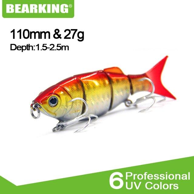 Bearking M45b chaud 1 pc 11 cm 27g dur pêche leurre manivelle appât plongée 1.5-2.5 m lac rivière pêche Wobblers carpe appâts de pêche