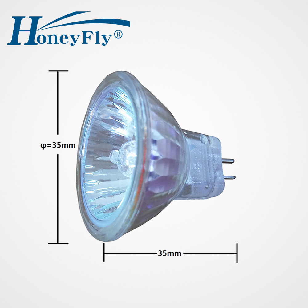 HoneyFly 2pcs MR11 Halogen Lamp 12V 10W/20W 3000K Dimmable Halogen Bulb GU4 Halogen Clear Glass Indoor Halojen Lamba Home Office