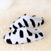 IVI New Cow stripe Men Women Soft Warm Indoor Slippers Cotton Sandal Couples Home Anti-slip winter warm bedroom house Shoes