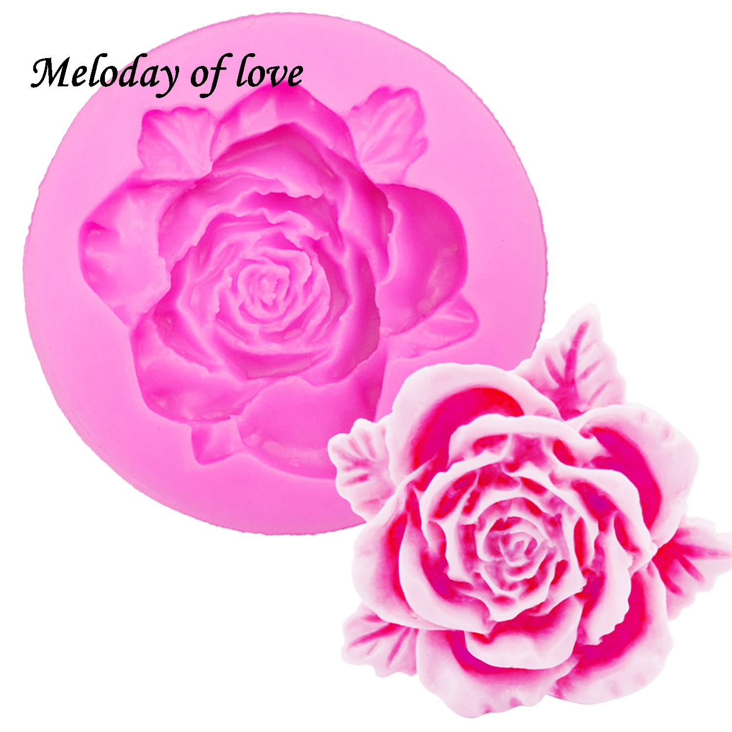 Roses Flowers chocolate wedding cake decorating tools DIY baking fondant silicone mold Clay Resin sugar Candy Sculpey T0108