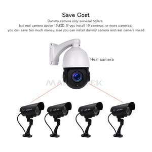 Image 3 - 屋外フェイクカメラホームセキュリティビデオ監視ダミーカメラcctvカメラvidecamミニカメラhdバッテリー電源点滅led