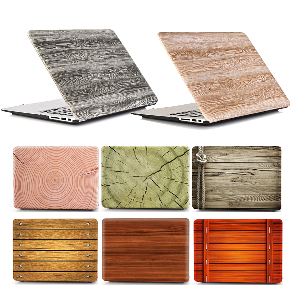 Printed Case For Macbook Pro Retina 13 15 Case Wooden Grain Hard A1502 A1398 Coque For Macbook Pro Retina 13 15 Laptop Case