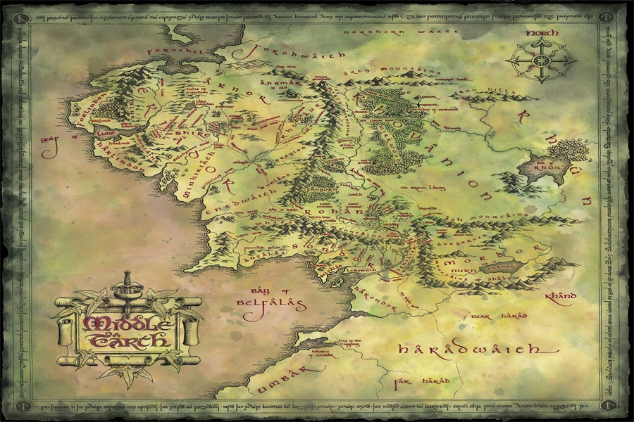Custom Canvas Art The Lord Of The Rings Poster Hobbit Wall