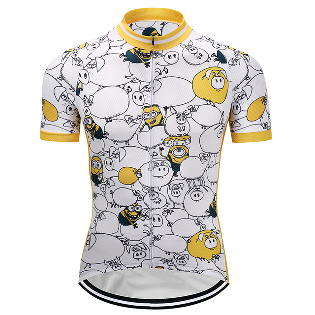 Crossrider 2018 Funny Cycling Jersey Cartoon Mtb Jerseys Mountain Bike Clothing Bicycle Clothes Short Bicycle Wear Tops Racing