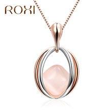 b4012d2a8404 Roxi OPAL chokers Collares moda Rosa oro plata color cristal ojo colgante  collar declaración Bohemia joyería para las mujeres