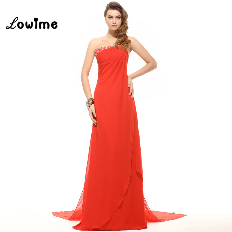 Red Sheath Long Strapless Bridesmaid Dresses On Sale Affordable