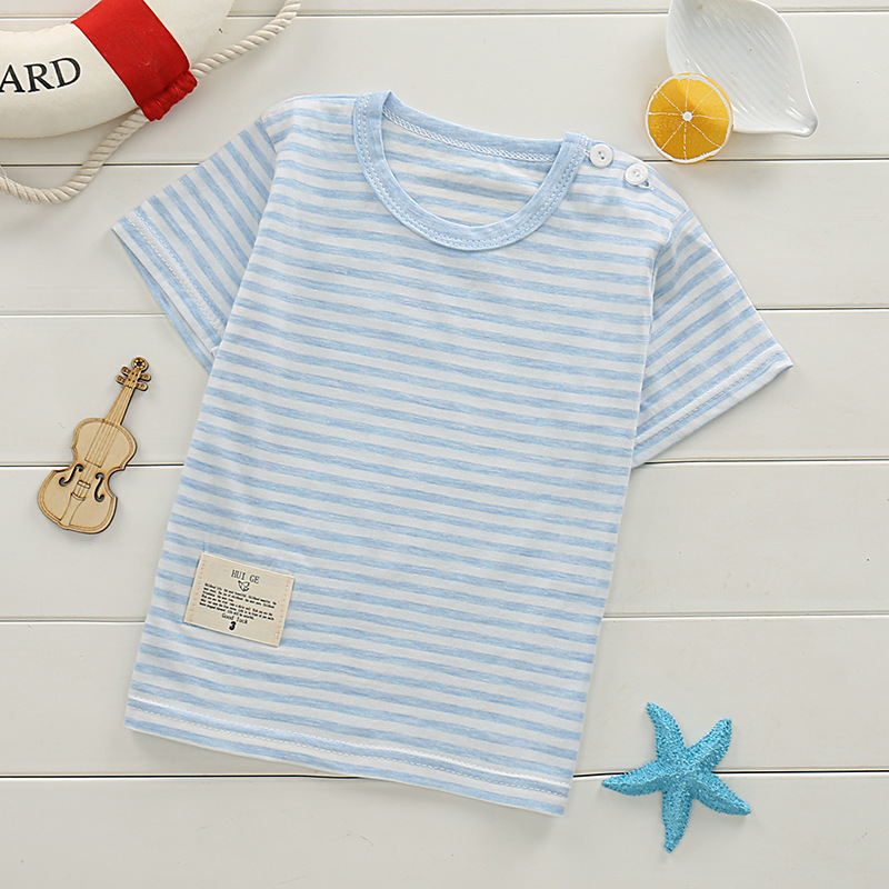 Stripe T-Shirts For Boys Clothing Cotton Child Kids T-Shirts Children Summer Tops Tee Cartoon Casual Print Clothes Children boys cotton clothes sets for children summer outfit kids camouflage t shirts