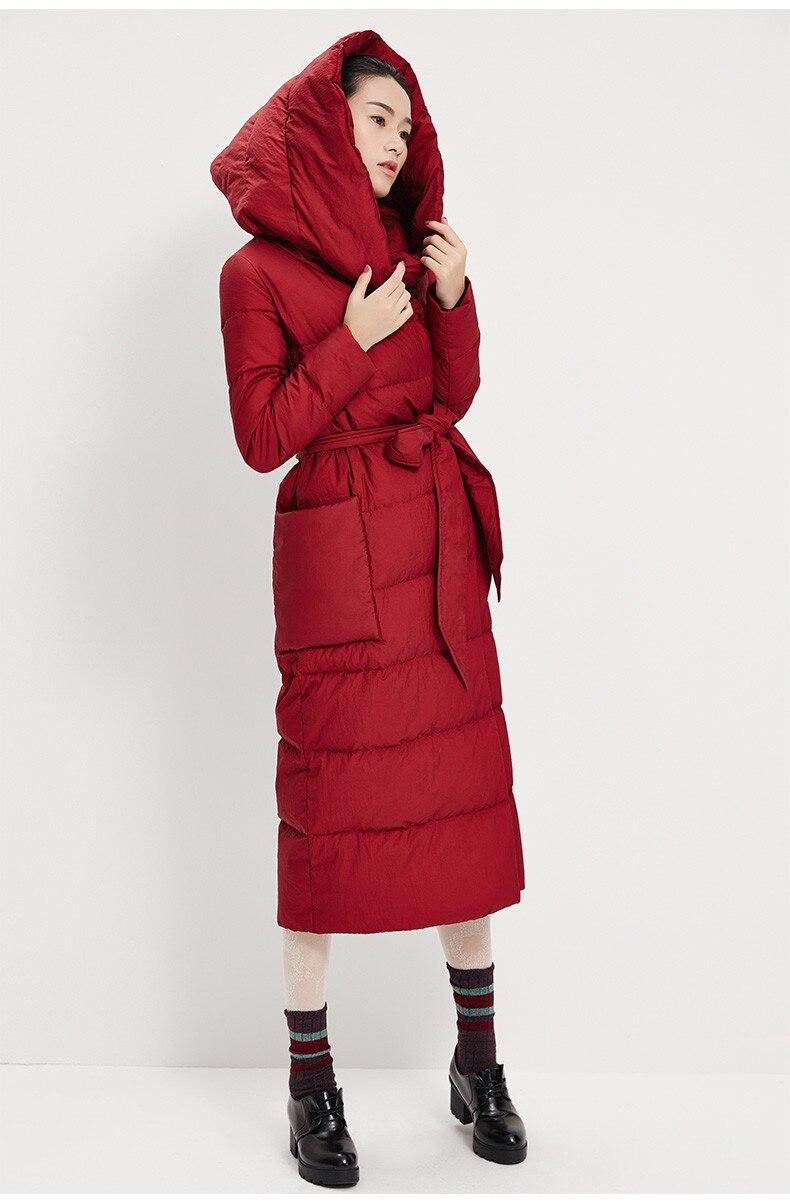 Duvet Femmes X De Maintien Manteau Chaud Avec ligne Doudoune Grande Ceinture H Veste D'hiver Capuche longues 1qqwSx5BI