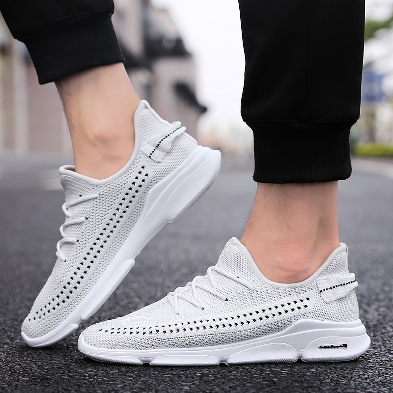 adults trainers summer Running Shoe for Men sock footwear sport athletic breathable Mesh flying Sneakers zapatillas hombre