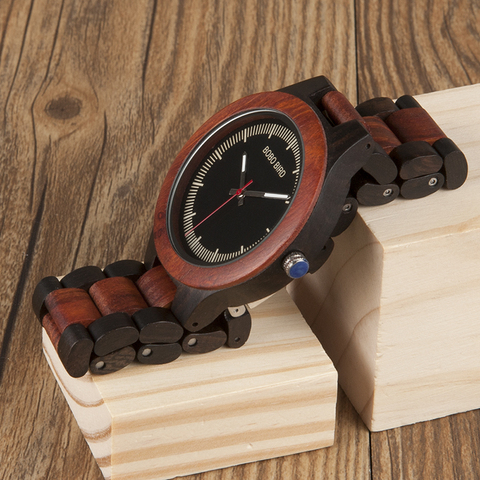 BOBO BIRD Timepieces Men Wood Watches Luxury Handmade Quartz Watches Two-tone Wooden Drop Shipping Islamabad