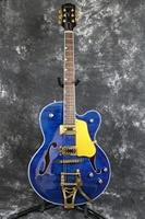 Grueso semi Hollow Cuerpo Arce flameado Top oro Bigsby Jazz azul es 335 325 345 eléctrica Guitarras ra los color aceptar