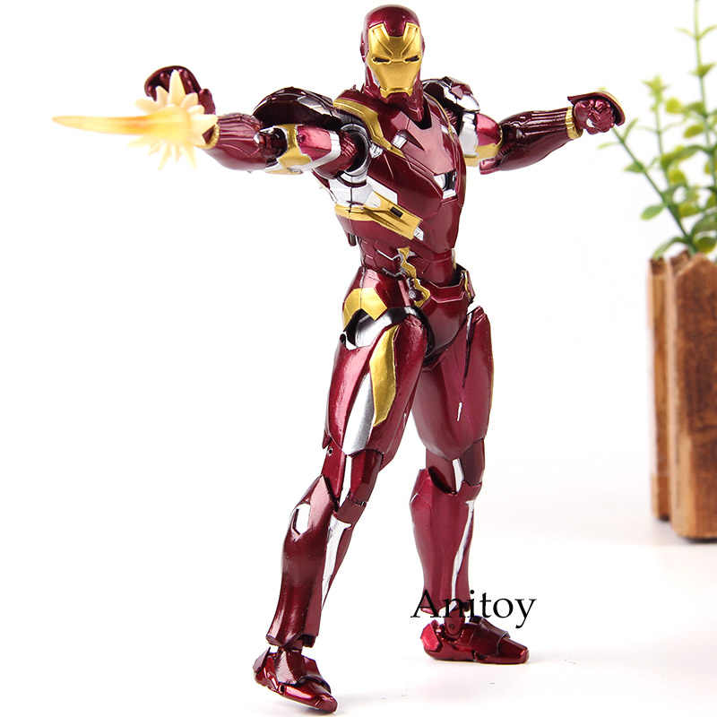 Captain America Guerra Civile Marvel Iron Man MK46 Action Figure Modello di Raccolta IN PVC Giocattoli