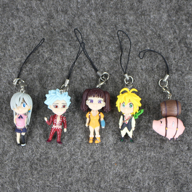 Seven Deadly Sins Nanatsu No Taizai Wrath Meliodas Diane Elizabeth Hawk Ban Keychain Pendant Figure 3