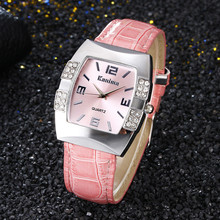 Multi-color Barrel Shape Arabic Numerals Rhinestone Personality Dial Ladies Watch Quartz Fashion & Casual