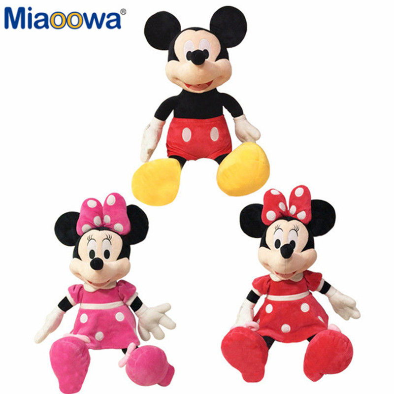 Hot Sale 30cm Mickey&Minnie Mouse High Quality Plush Stuffed Toy Dolls Home Decor Birthday Gifts For Kids Baby Children