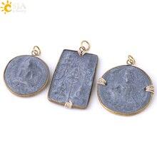 CSJA тайский Амулет слайд кулон среднего размера винтажные круглые квадратные амулеты для мужчин женщин состояние мужчин t ожерелье Будда ювелирные изделия S324