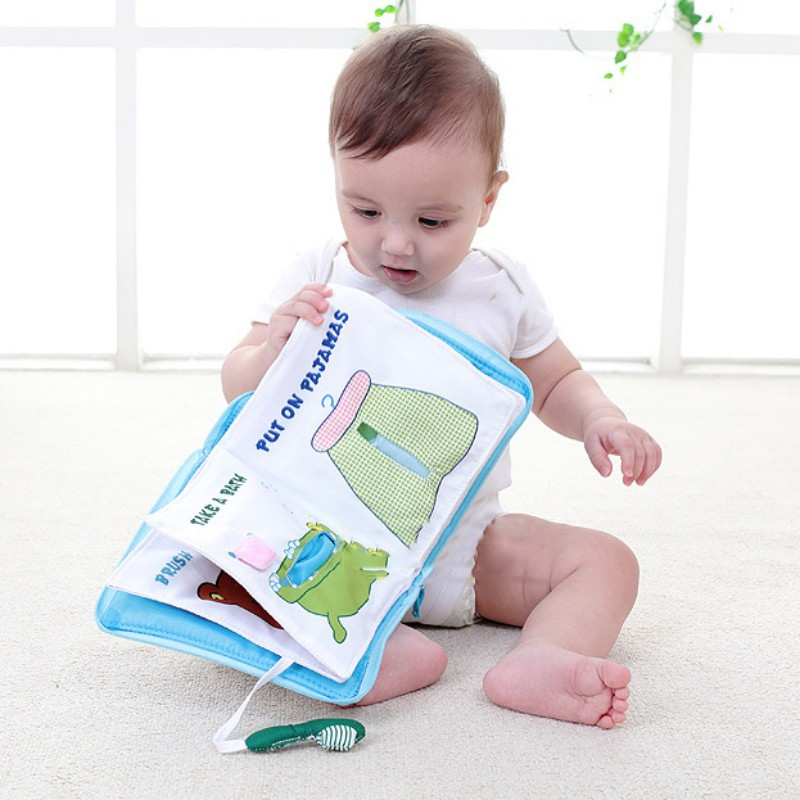 Reasonable 12 Pages Soft Cloth Baby Boys Girls Books Rustle Sound Infant Educational Stroller Rattle Toys For Newborn Baby 0-12 Month Toys & Hobbies Baby Rattles & Mobiles